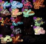 [OTA: Open] lots of lil dragon frends by DiavolosLingerie