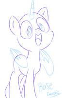Sketchy Pony Base #1 by EMositeCC