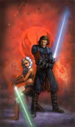 Star Wars Anakin and Ahsoka by TereseNielsen