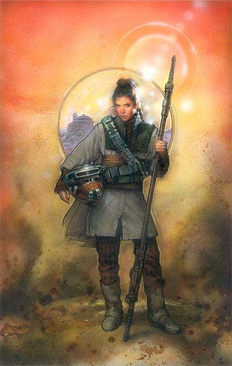 Star Wars: Leia Boushh by TereseNielsen