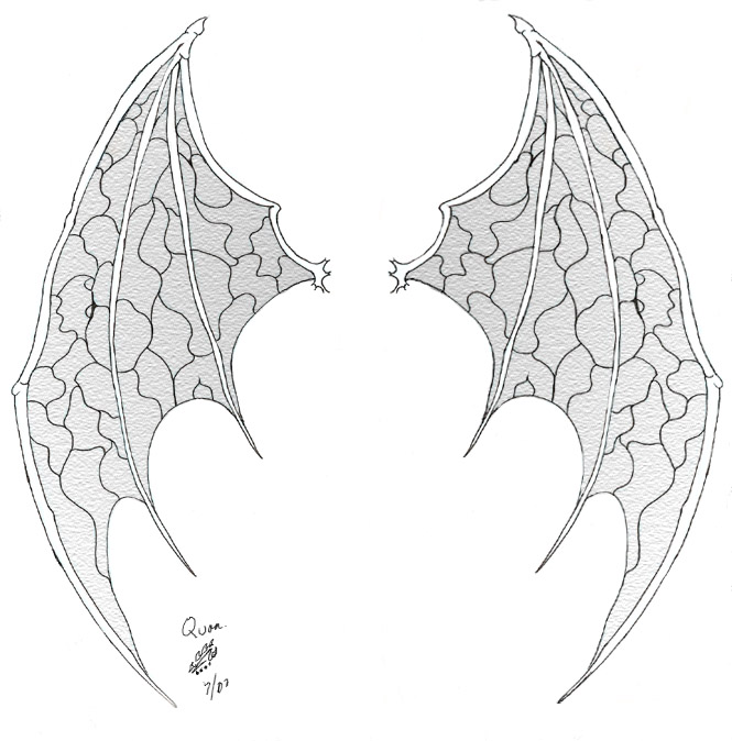 devil wings tattoo by qbsamurai on deviantart. Black Bedroom Furniture Sets. Home Design Ideas