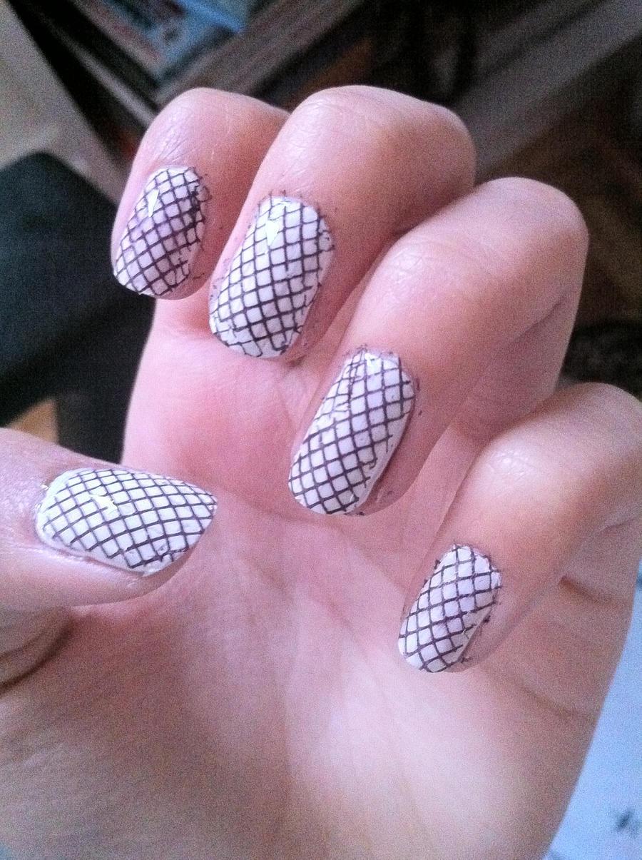 Whiteblack mesh nail art design by bakamiki on deviantart whiteblack mesh nail art design by bakamiki prinsesfo Gallery