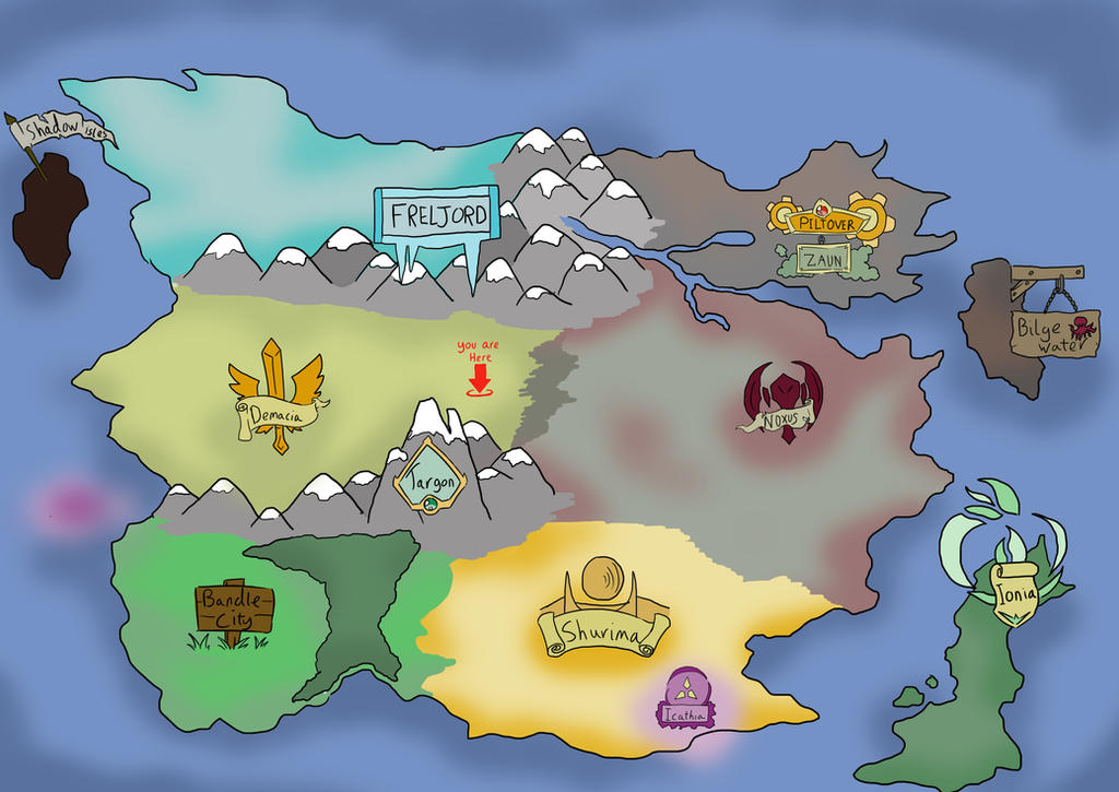 imagined map of runeterra (league of legends) by ... on diablo 3 world map, pokemon mystery dungeon world map, lol map, concept art world map, treasure map,
