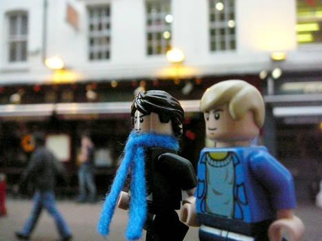 Lego!Sherlock and Lego!John at London China Town
