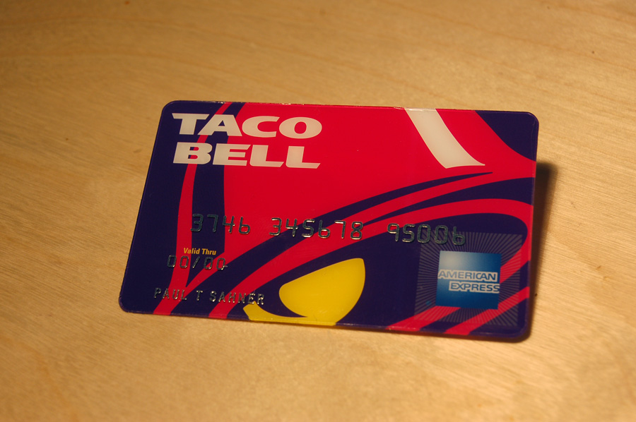 Completed Taco Bell Amex Card by paulsahner on DeviantArt