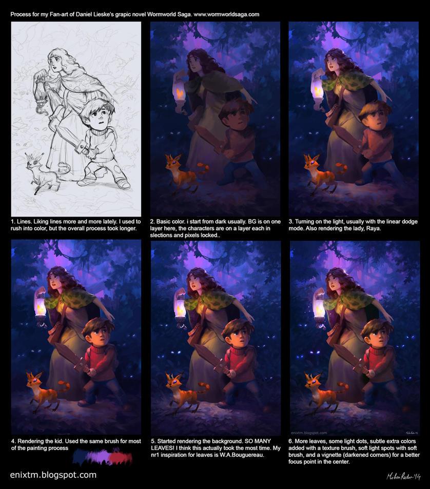 Wormworld saga process by MihaiRadu