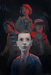 Stranger Things fanart poster by MihaiRadu
