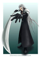 Sephiroth Plays Pool by Spiffiness