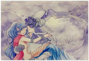 Master Yi x Soraka by Erickachu