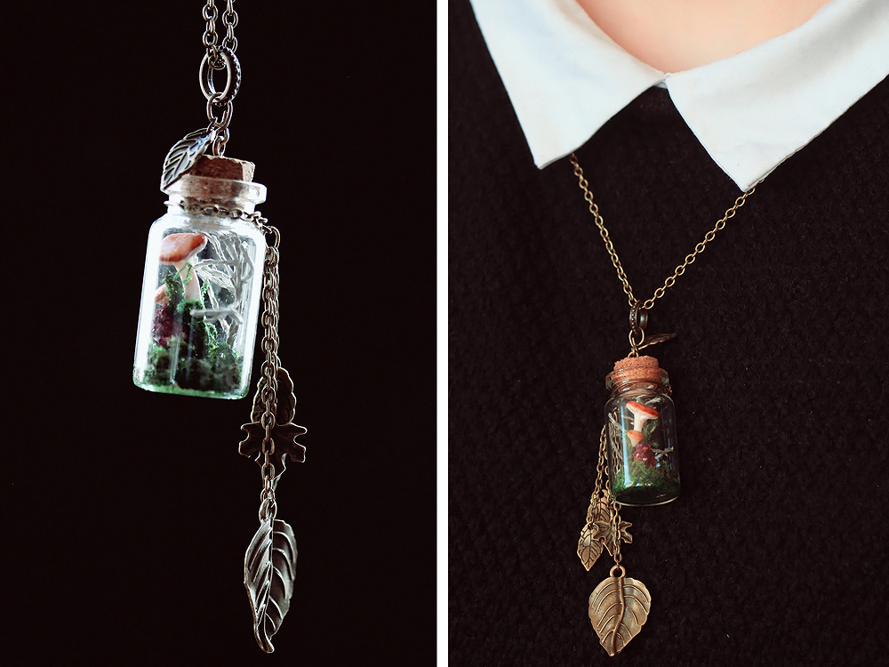 Mushroom in a bottle necklace for sale by lisk art on deviantart mushroom in a bottle necklace for sale by lisk art mozeypictures Images