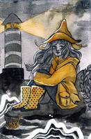 Inktober 2017 - Sea Witch by Lisk-Art