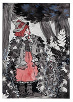Inktober 2017 - Forest Witch by Lisk-Art
