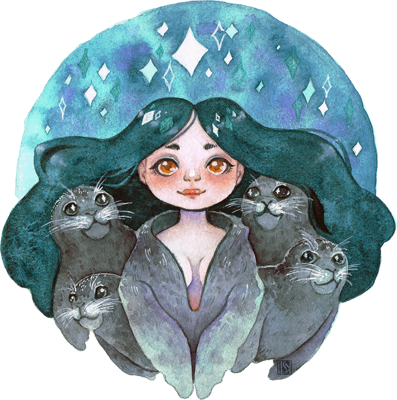 Selkie and Friends by Lisk-Art