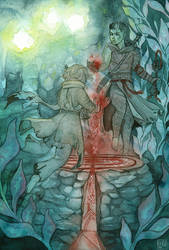 cr: underwater sacrifice by Lisk-Art
