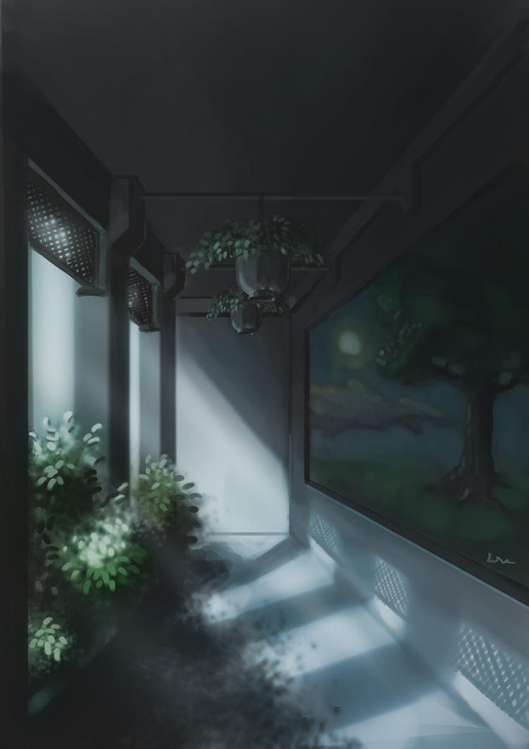 Charming Moonlit Garden By Aizefyre ...