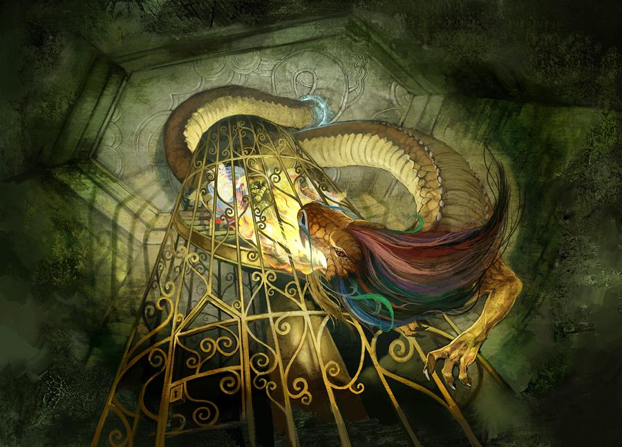 Spiral Stair Dragon Attack by JonHodgson on DeviantArt