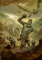 Monster Attack by JonHodgson
