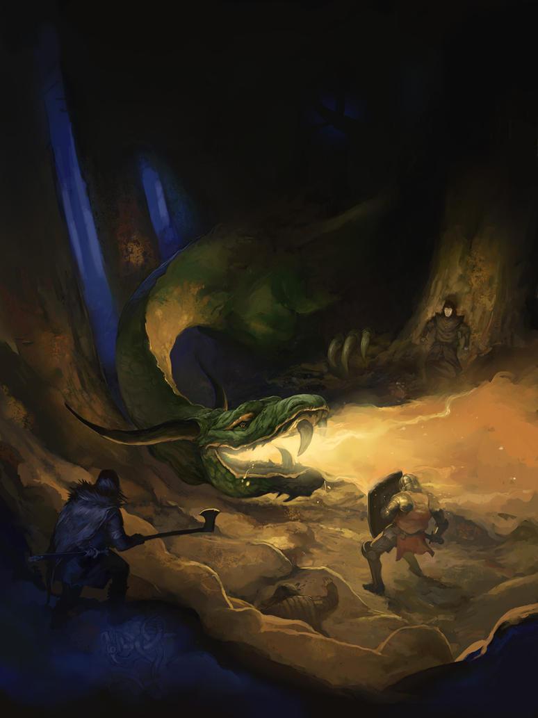 Dragon Warriors Bestiary by JonHodgson