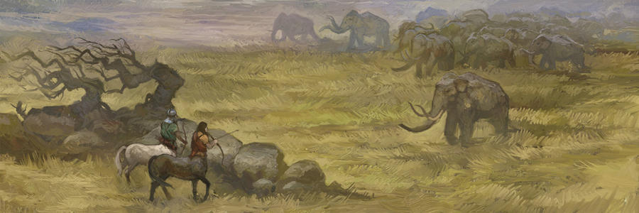 Mammoth Hunters by JonHodgson