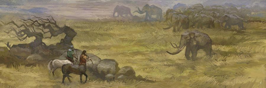 Mammoth Hunters by JonHodgson
