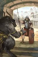Altercation at the Gate by JonHodgson