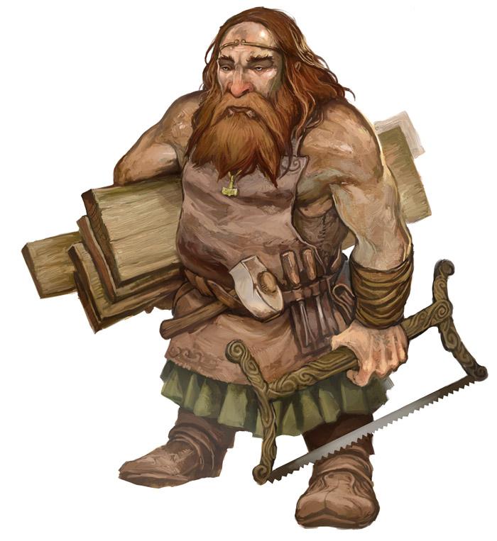 Carpenter Dwarf by JonHodgson