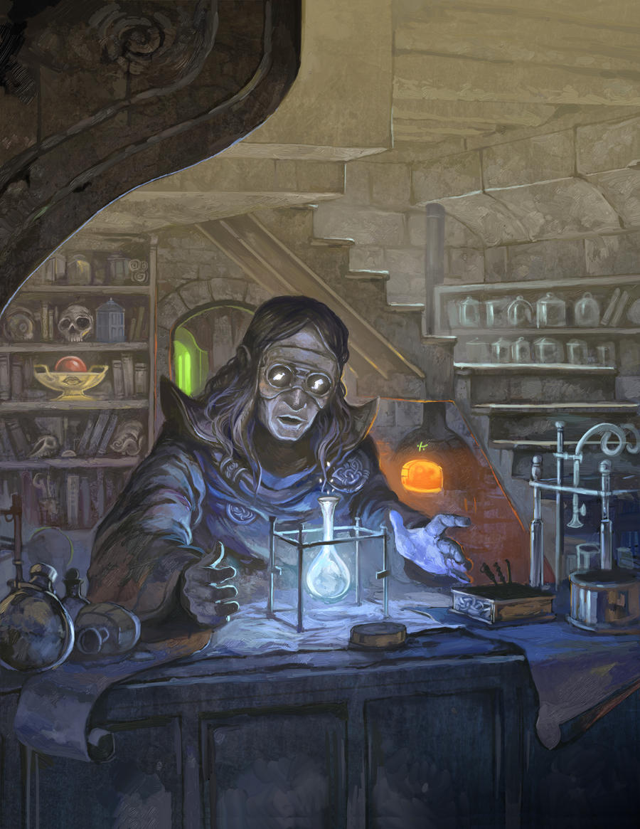 fantasy alchemist lab art images