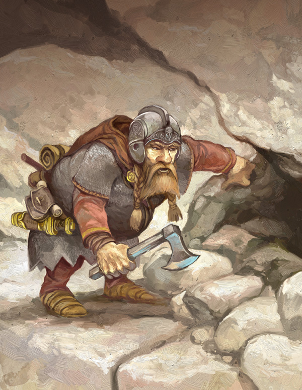 Dwarf Treasure Hunter by JonHodgson