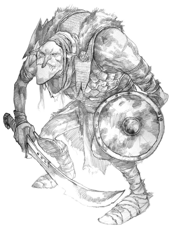 Goblin Chieftain by JonHodgson