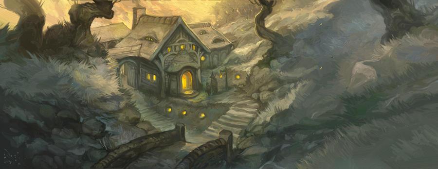 An Inn Across The Mountains by JonHodgson