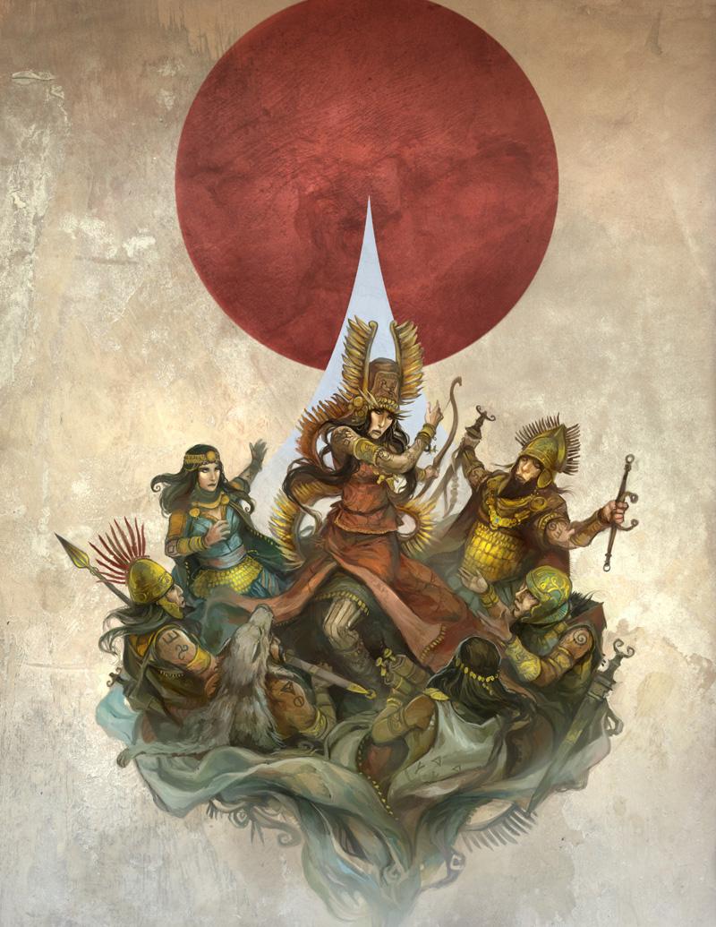 Sartar: Kingdom of Heroes Cover by JonHodgson