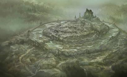 Dol Guldur Map for Heart of the Wild by JonHodgson
