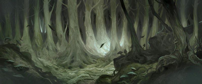 hobbit fantasy forest trees - photo #24