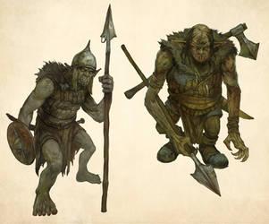 Orcs by JonHodgson