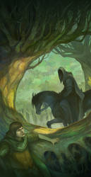 Frodo and the Black Rider by JonHodgson