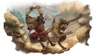 Gnoll Tribes by JonHodgson