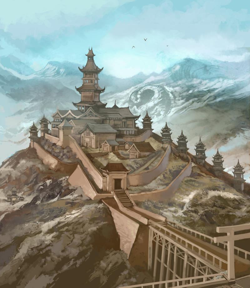 Dragon Clan Stronghold by JonHodgson
