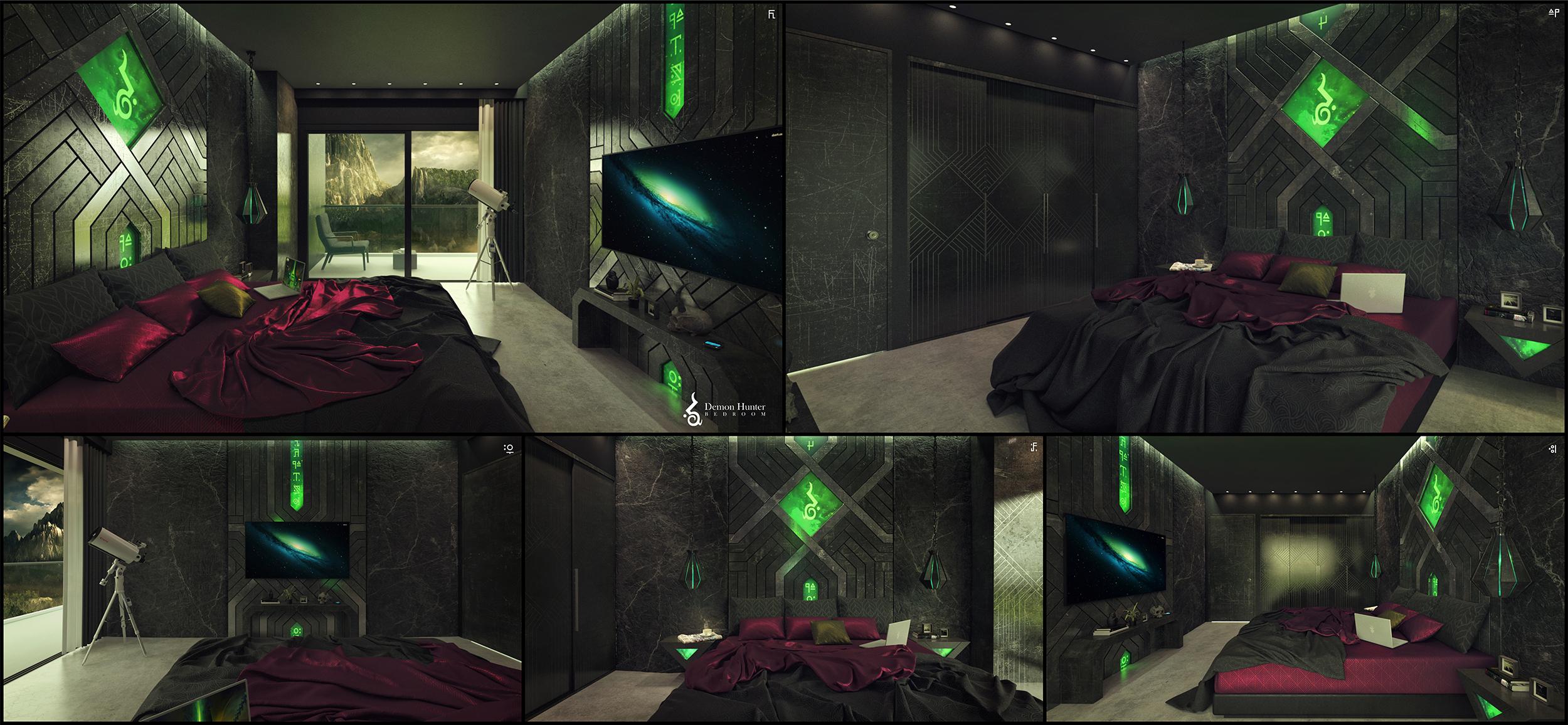 Demon Hunter Bedroom by imaDreamwalker