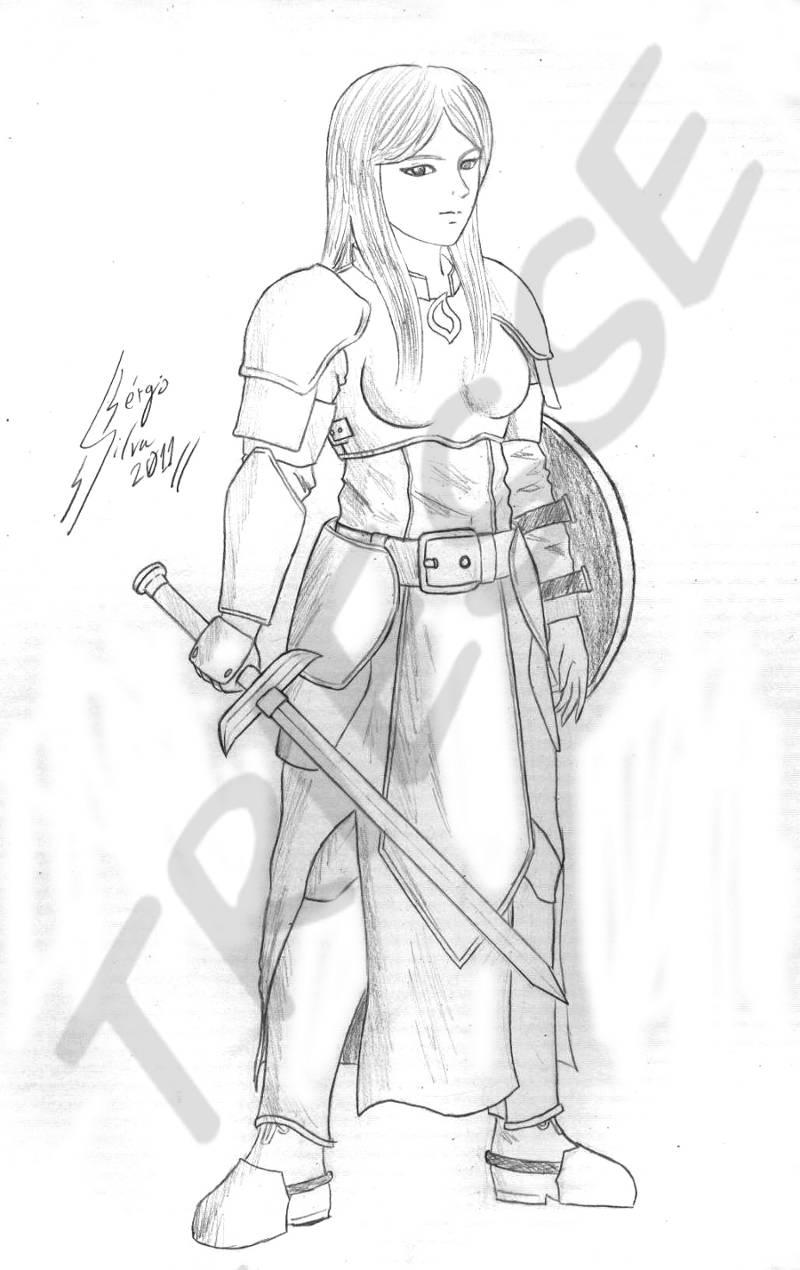 Rough Sketch - Female Knight By Triesse On DeviantArt