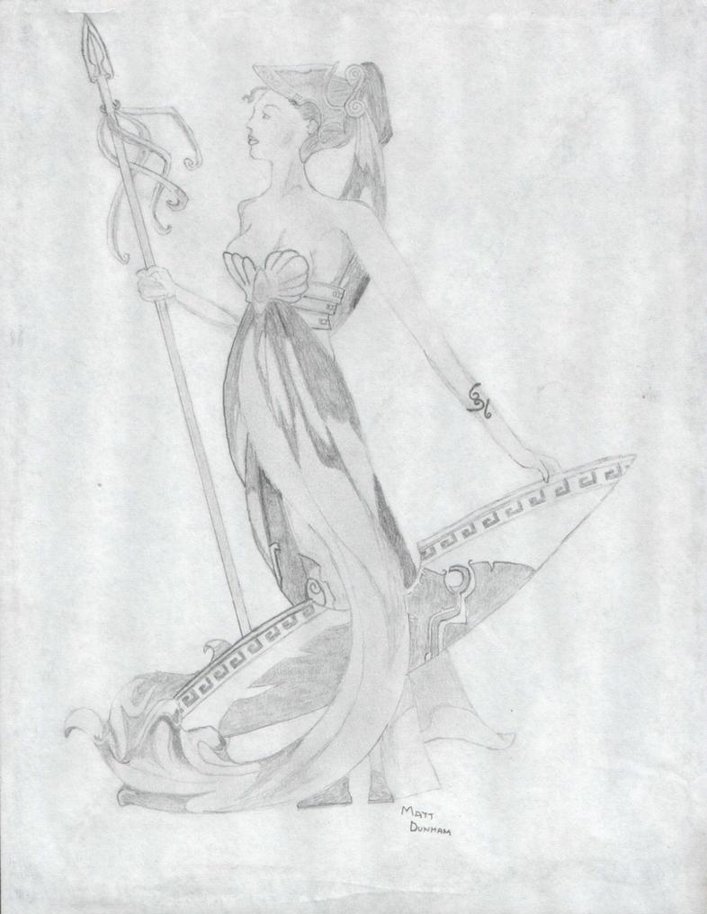 Athena, Greek Goddess by LordTrekie on DeviantArt
