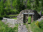 Old stone gate