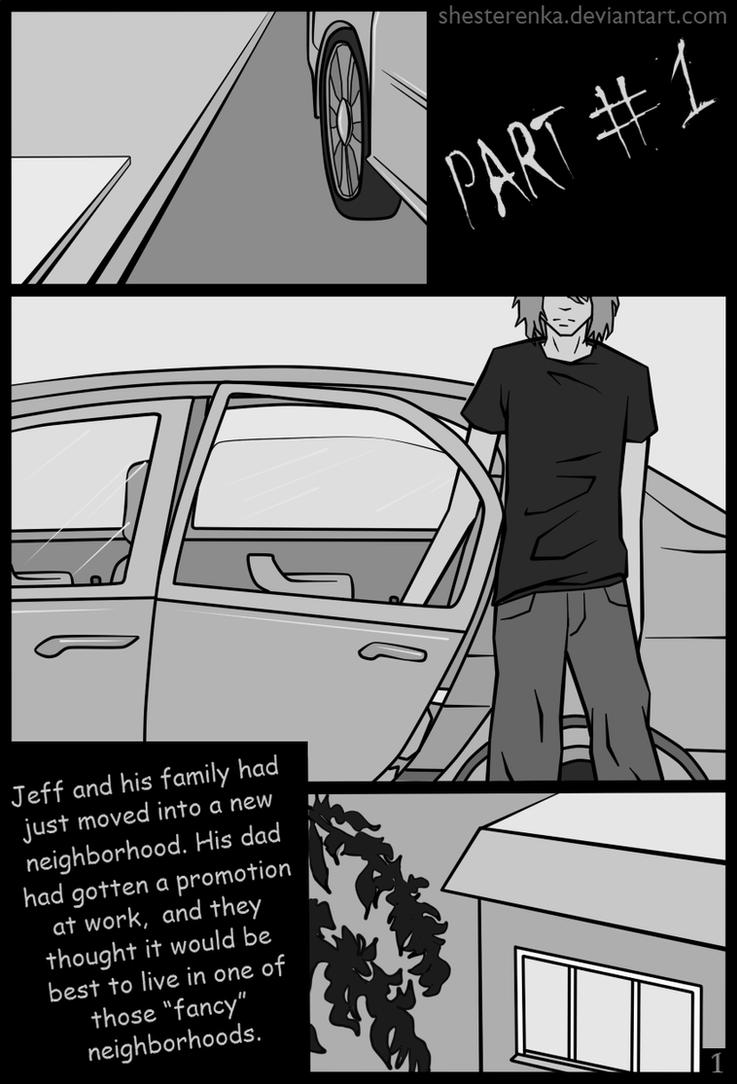 Jeff The Killer Manga 1 Page 1  Jeff the killer manga