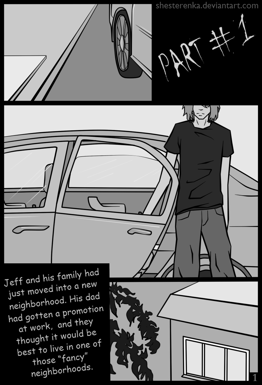 Jeff The Killer Manga 1 Page 1 (Jeff the kille...