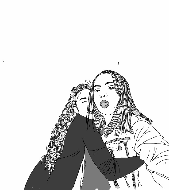 tumblr outlines of my friend and mesudelight on