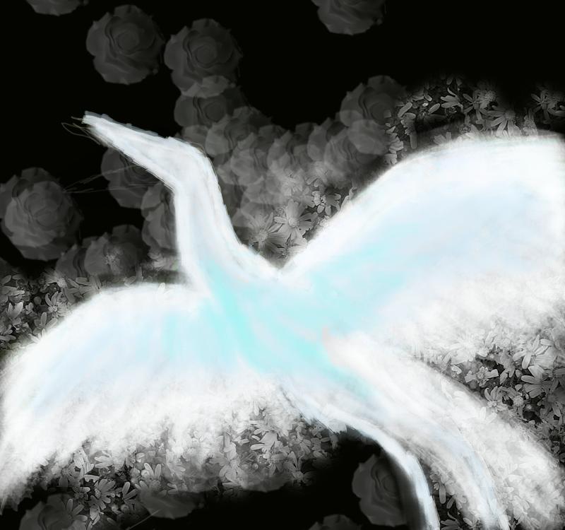 Crane Patronus by RockinRavenclaw