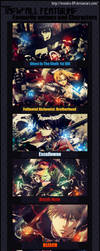 Favourite animes and characters by motoko-09