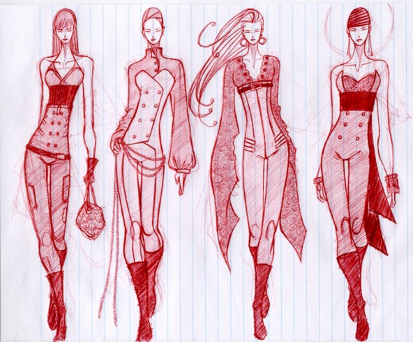 Fashion Sketches by oteesalsa