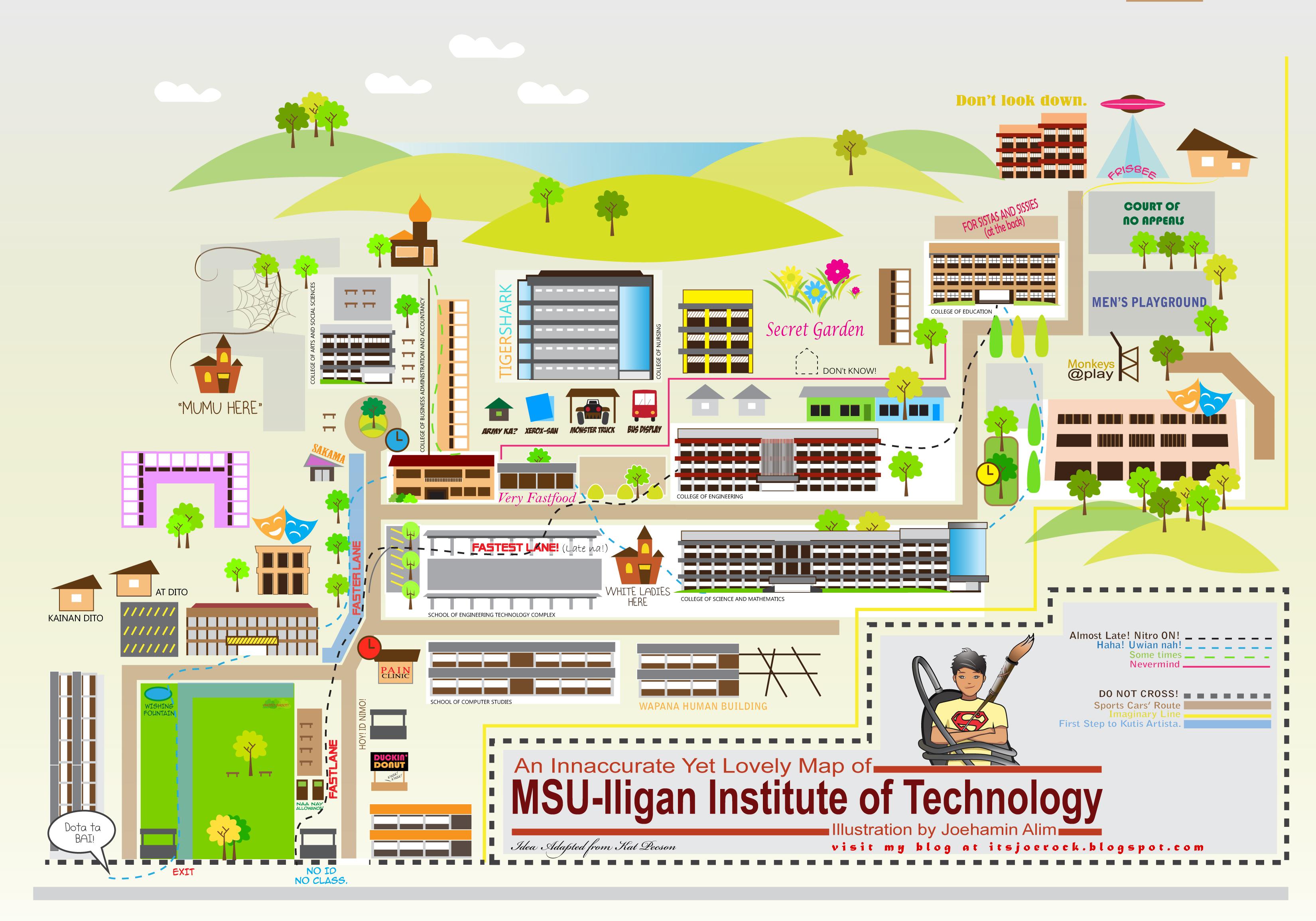 MSU IIT Campus Map by joethegreat12 on DeviantArt