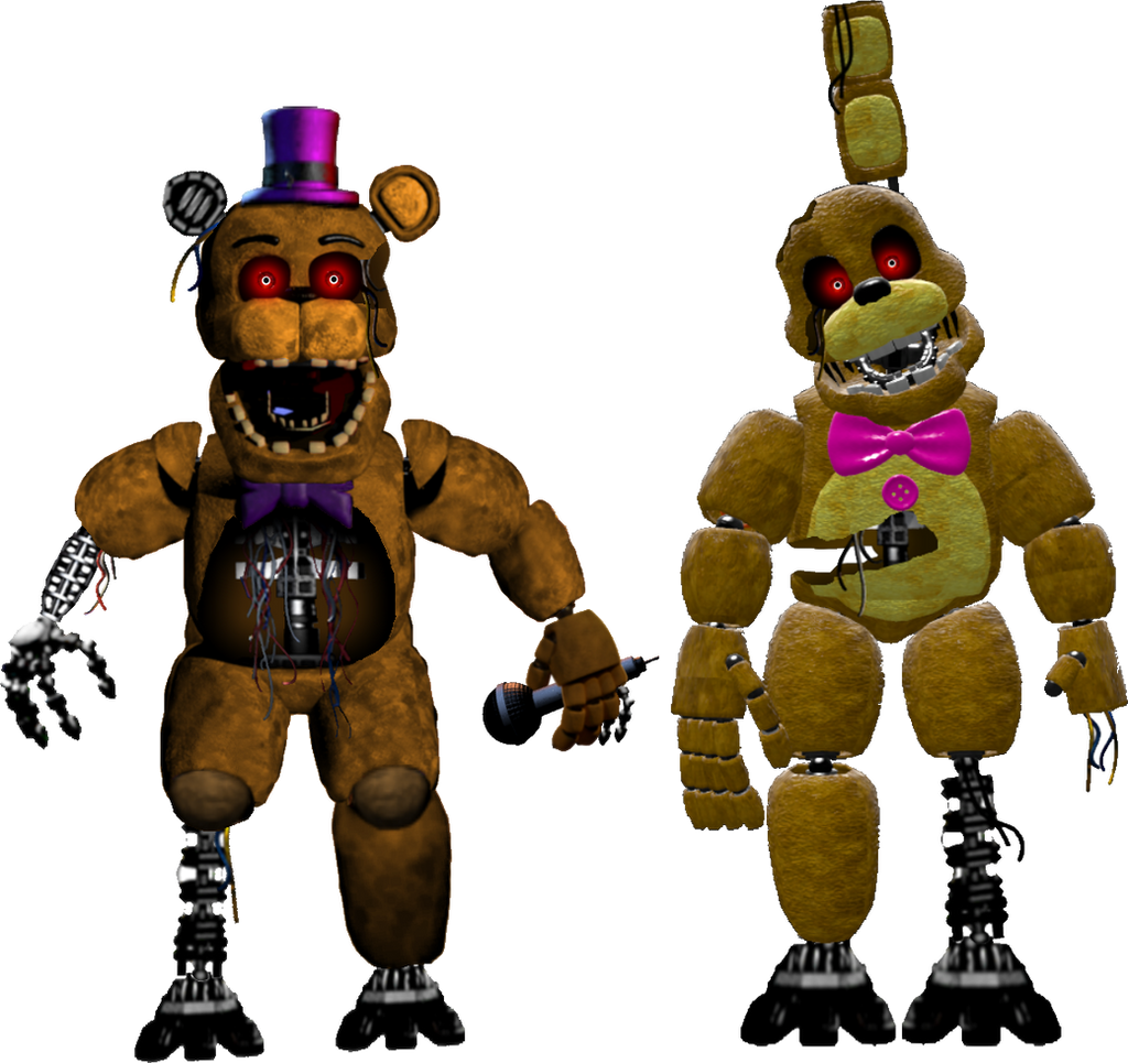 Withered Fredbear And Springbonnie By Sebby07 On DeviantArt