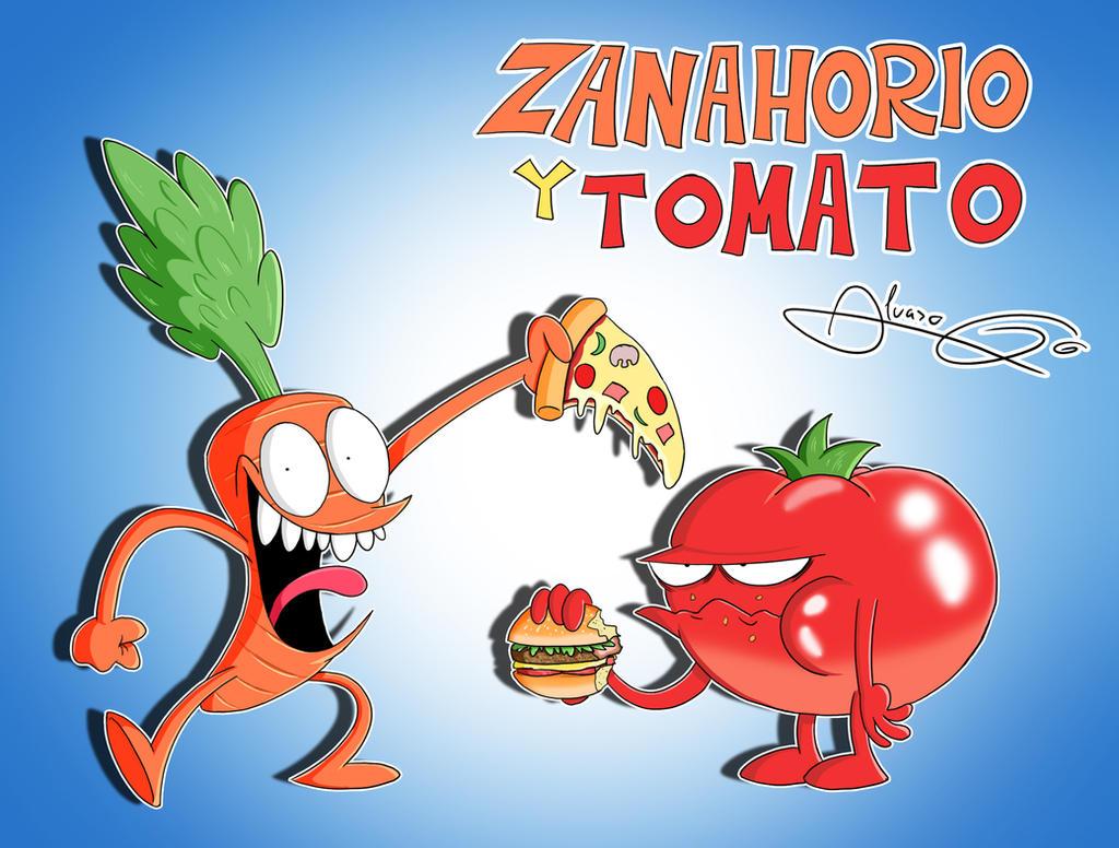 Zanahorio y Tomato by Kibaro-Kun